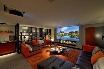 mediaroom villa inrichten